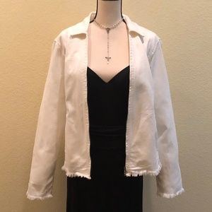 Liz Claiborne - White Cotton Denim Jacket